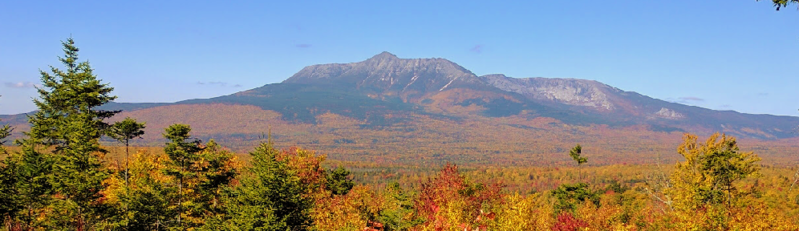 Mt. Katahdin photographed from the Katahdin Woods and Waters National Monument