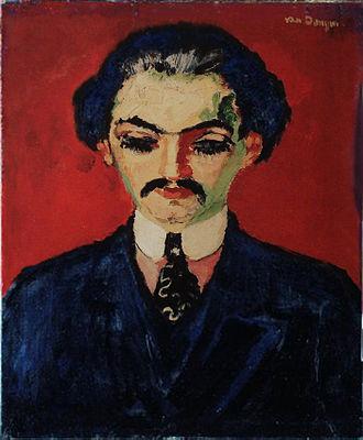 Kees van Dongen - Kees van Dongen, c.1907-08, Portrait of Daniel-Henry Kahnweiler (Portrait de Kahnweiler), oil on canvas, 65 x 54 cm, Musée du Petit Palais, Geneva