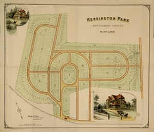 Kensington, Maryland - Kensington Plat (c. 1890)