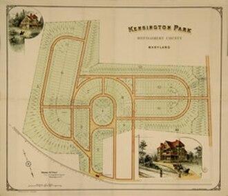 Kensington, Maryland - Kensington Plat (c. 1890)