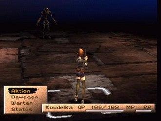 Koudelka - The main protagonist, Koudelka, in the game's opening battle.
