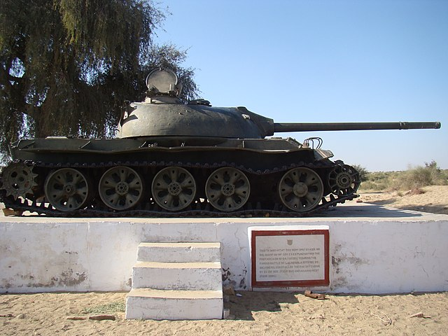 A Pakistani tank at Longewala from the 1971 war.