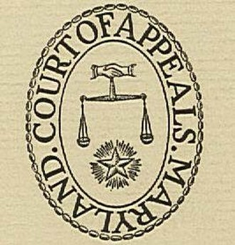 Maryland Court of Appeals - Seal of the Maryland Court of Appeals
