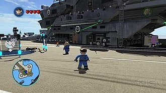 Lego Marvel Super Heroes - The player can visit several locations in the game such as the S.H.I.E.L.D. Helicarrier.