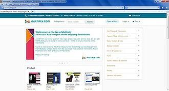 Multiply (website) - Multiply screenshot as of August 23, 2008
