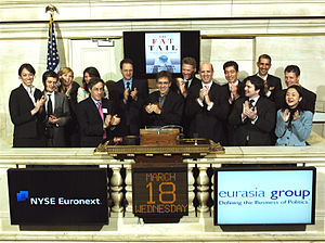 Eurasia Group - Eurasia Group ringing the opening bell at the New York Stock Exchange