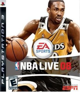 <i>NBA Live 08</i> 2007 basketball video game