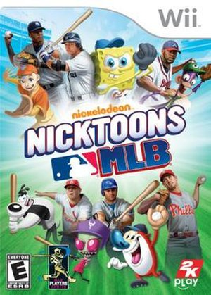 Nicktoons MLB - North American cover for the Wii version