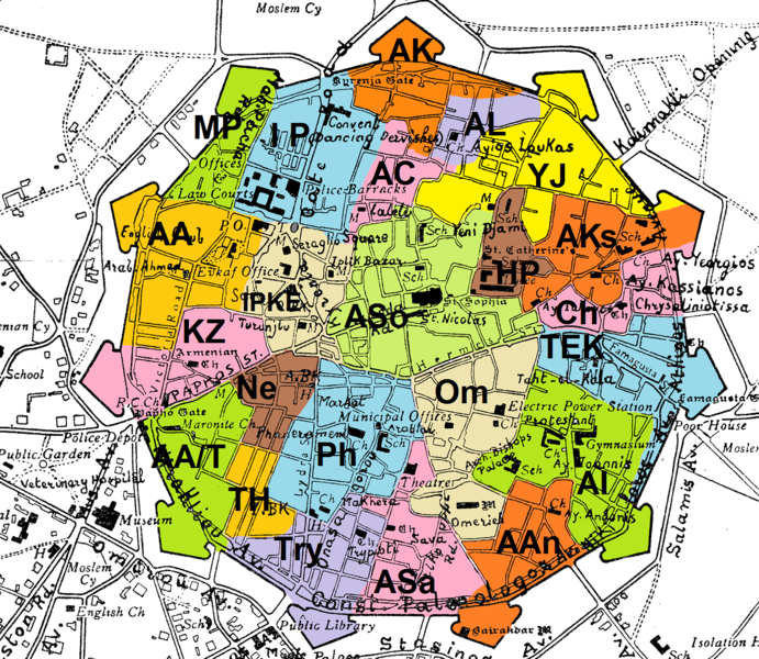 Administrative Divisions Of Nicosia Wikipedia - nicosia map