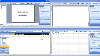 Microsoft Office 2003 - Image: Office 2003 screenshot