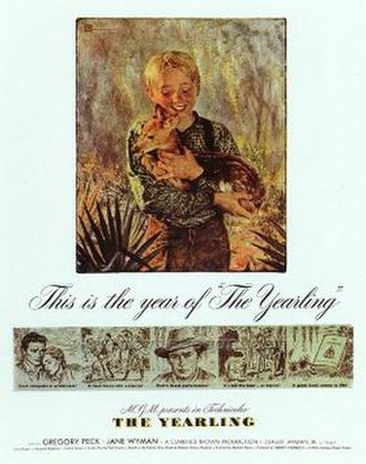 The Yearling (1946 film) - Theatrical release poster designed by Douglass Crockwell (November 1946)