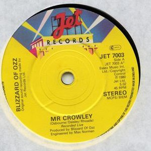 Mr Crowley - Image: Ozzy Osbourne Mr Crowley Single 1980
