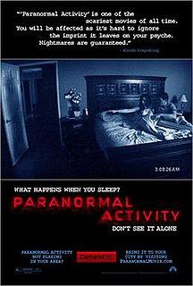 <i>Paranormal Activity</i> 2007 film by Oren Peli