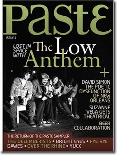 <i>Paste</i> (magazine) American music and entertainment digital magazine