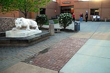 Penn State DuBois Campus Nittany Lion on Quad.jpg