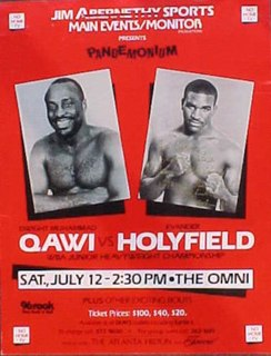 Dwight Muhammad Qawi vs. Evander Holyfield Boxing competition