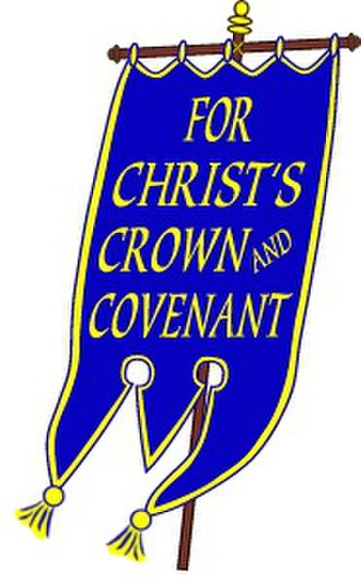 Reformed Presbyterian Church of North America - The Blue Banner logo of the RPCNA