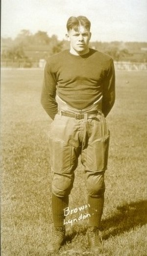 Robert J. Brown - Robert Brown, captain of Michigan's 1925 football team