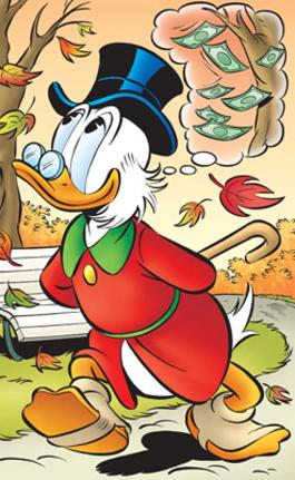 Scrooge McDuck Disney character, uncle of Donald Duck