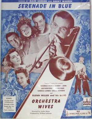 Serenade in Blue - 1942 sheet music cover, Bregman, Vocco and Conn, Inc., New York.