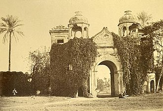 """Sikandar Bagh - The Sikandar Bagh Gateway in 1883. From Edward Hawkshaw's Album of Indian Photographs, titled: """"1883 Secundra Gate, Lucknow"""""""