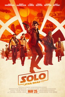 <i>Solo: A Star Wars Story</i> 2018 American epic space opera film in the Star Wars franchise