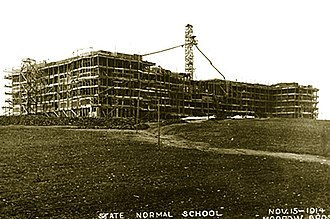 Towson University - Stephens Hall, under construction in 1914.