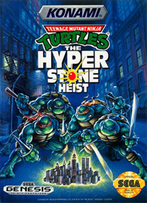 Teenage Mutant Ninja Turtles: The Hyperstone Heist - North American cover artwork