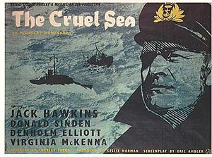 The Cruel Sea (1953 film) - Original British film poster