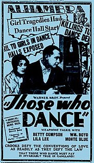 <i>Those Who Dance</i> 1930 film by William Beaudine