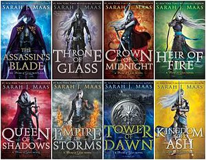 Throne of Glass - The covers of the prequel novella collection and first five books