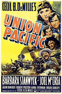 <i>Union Pacific</i> (film) 1939 film by Cecil B. DeMille