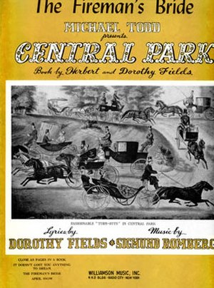 Up in Central Park - Sheet Music Cover (cropped)
