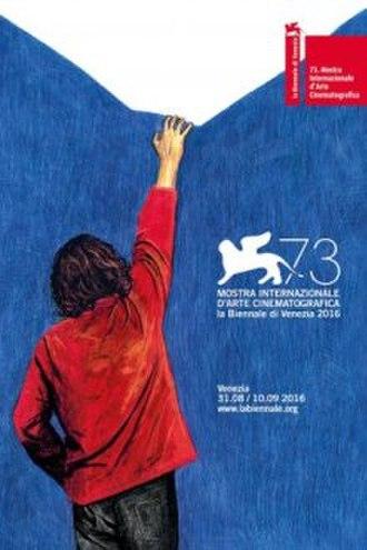 73rd Venice International Film Festival - Festival poster