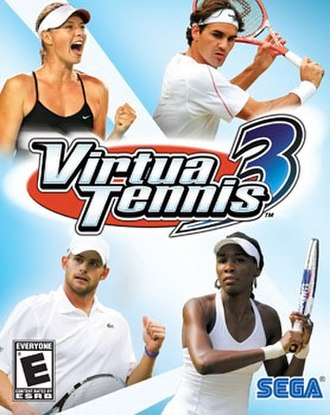 Virtua Tennis 3 - Players Maria Sharapova, Roger Federer, Andy Roddick and Venus Williams appears on the U.S. cover art for the game.