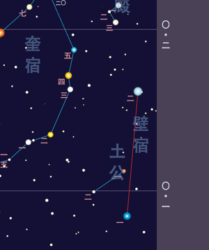 Wall (Chinese constellation) - Bì Xiù map