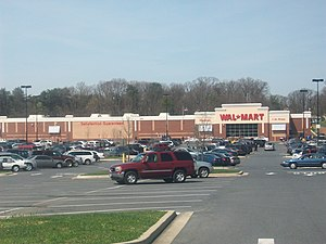 Capital Plaza Mall - The Wal-Mart store that was built on the grounds on which the former mall once stood