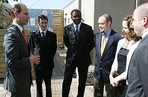 Monarchist League of Canada - Prince Edward, Earl of Wessex speaks with members at a League reception held at Toronto's Spoke Club, 2005.