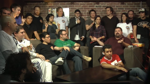 Whiskey Media - Big Live LIVE Show: Live! - Ryan Davis as host (seated right) with the staff and guests of Whiskey Media