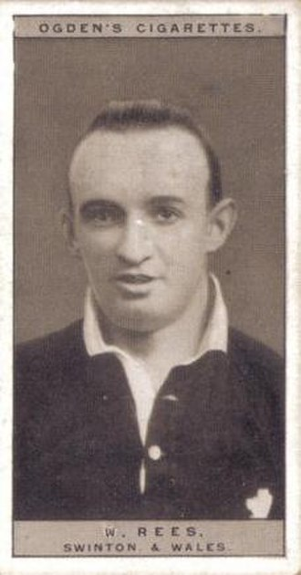 William Rees (rugby) - Ogden's Cigarette card featuring William Rees