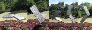 George Rickey - Breaking Column, stainless steel, 1988, Honolulu Museum of Art
