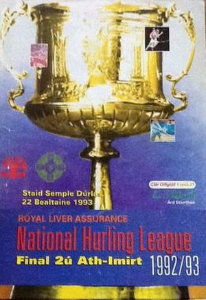1992–93 National Hurling League - Image: 1993 National Hurling League final programme
