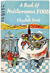 book jacket with bright coloured exterior scene of Mediterranean seafront