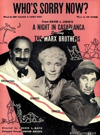 Who's Sorry Now? - Image: A Night in Casablanca cover (alternate)