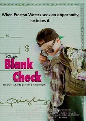 Blank Check (film) - Theatrical release poster
