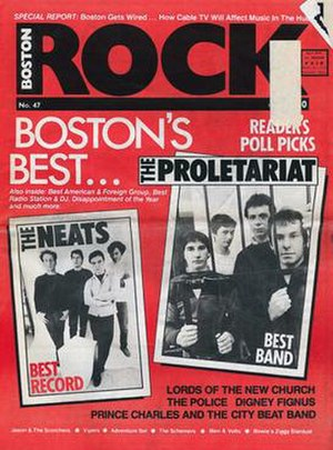 Boston Rock - 47th issue cover, December 1983.
