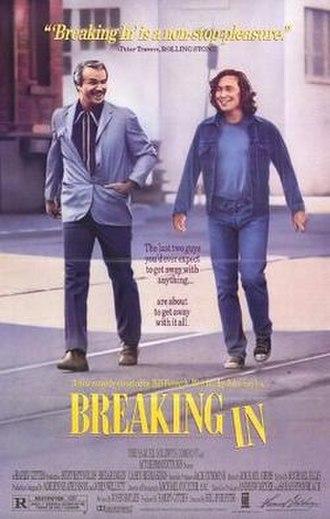 Breaking In (1989 film) - Image: Breaking in poster