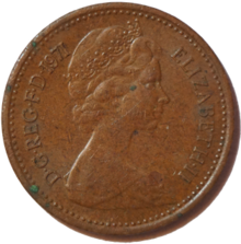 British halfpenny coin 1971 obverse.png