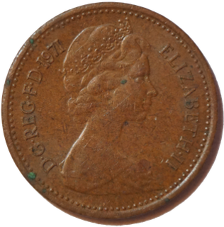 Halfpenny (British decimal coin) Demonetised unit of currency that was worth one two-hundredth of a pound sterling