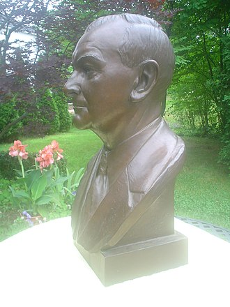 Newcomen Society of the United States - Charles Penrose, 1956, bronze bust by Bryant Baker